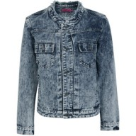 Denim Shirt With Embroidered Collar